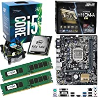 INTEL Kaby Lake Core i5 7500 3.4Ghz CPU (Turbo 3.8Ghz), ASUS H110M-A/M.2 Motherboard & 16GB 2133Mhz Crucial DDR4 RAM Pre-Built Bundle