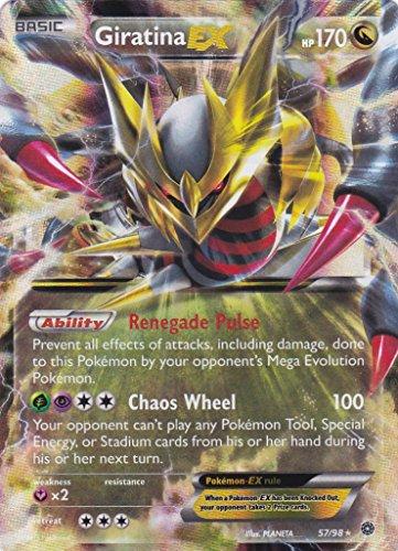 Karte Pokémon, 57/98,Giratina EX 170PV–Serie XY Origines Antiques XY7 –neu, französischsprachig, selten (Mega Seltene Pokemon Karten)
