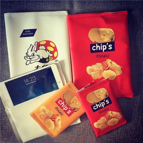 Zarapack-Borsa da donna per patate Chips-Borsa Giallo (rosso)