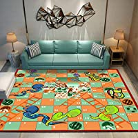 ZLXLED Thick Soft Super Water Absorbent Carpet Animal Snake Watermelon Ladder Round Beach Towel Circle Carpet Yoga Mat Blanket Room/Bedroom/Study/Coffee Table Carpets, Fashion Floor Mats