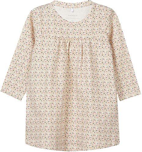 NAME IT Baby-Mädchen Kleid NBFSILD LS Dress Box, Weiß (Snow White), 86