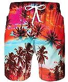 TUONROAD Badehose Herren,Herren Badeshorts, Hawaii Boardshorts mit Kordelzug