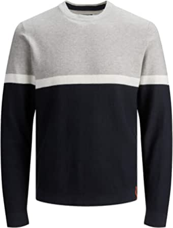 Jack & Jones Men's Jorbraze Knit Crew Neck Pullover Sweater