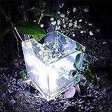 Lichterkette Außen, HUIHUI Wasserdicht 5M 50 Mini LEDs Kupferdraht Lichterkette batteriebetrieben für Party, Garten, Weihnachten, Halloween, Hochzeit, Indoor & Outdoor Decor (Weiß,One size)
