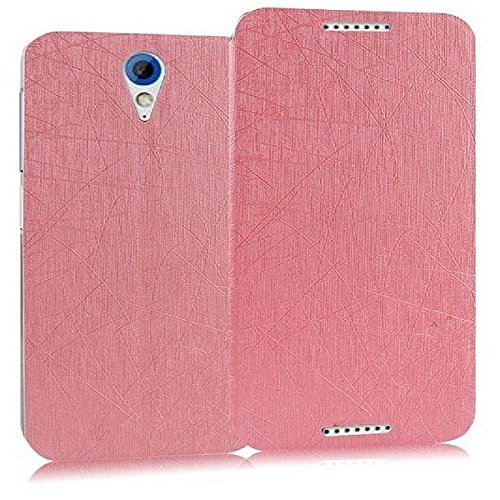 Heartly Premium Luxury PU Leather Flip Stand Back Case Cover For HTC Desire 620 620G 820 Mini Dual Sim - Cute Pink