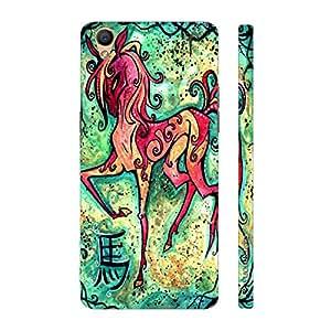 Enthopia Designer Hardshell Case CHINESE ZODIAC HORSE Back Cover for Oppo R9