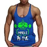palglg Men's Bodybuilding Athletic Tank Top Sleeveless Gym Vest Cotton