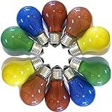 10-delige set gloeilampen gekleurd gemengd 25W E27 Rood Geel Groen Blauw Oranje