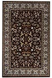 Orient Teppich Excellsior Bordüre - Farbe wählbar   modern schadstoffgeprüft pflegeleicht robust strapazierfähig und schmutzabweisend   für Wohnzimmer und Schlafzimmer geeignet, Farbe:Rot, Größe:40 x 60 cm