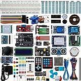 Set / Kit für Arduino - Smraza Ultimate Projekt UNO Starter Kit mit Tutorial, Uno R3 Mikrocontroller, relais, Stromversorgungsmodul, 9V 1A Netzteil, Servomotorund und viel Zubehör für Arduino UNO R3 Mega 2560 NANO(67 Projects)