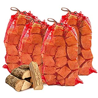 The Chemical Hut 40kg Seasoned Dried Softwood Logs for Firewood, Pits, Open Fireand Stoves. - Comes with The Log Hut Woven Sack.