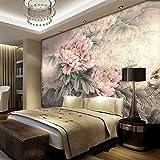 Chan-Mei 3D Großes Wandbild Tapete chinesische Tapete antiken Pfingstrose Blumen und Vögel Abb. 120cmX120cm