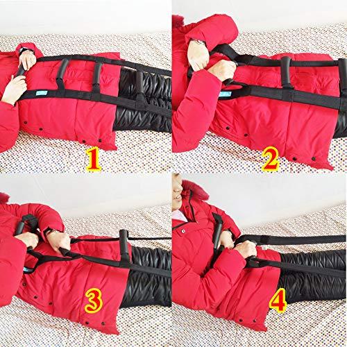 61Cd3vQfcKL - Asistente de escalera de cama: dispositivo de ayuda de extracción con correa de la manija, seguridad del suministro médico Seguro de elevación de la cama, asistencia de escalera de cuerda Anciano