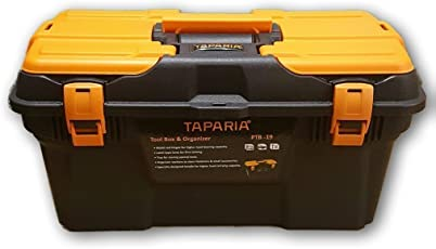 TOOLSCENTRE Tool Boxes with Organizer,19-inch (Black and orange)