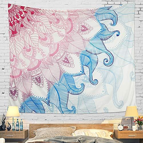 Wandteppich Wandbehang Mandala Blume Tuch Wandtuch Tapestry Indien Hippie Boho Stil als Dekotuch Tagesdecke Indisch Orientalisch Psychedelic (M/59