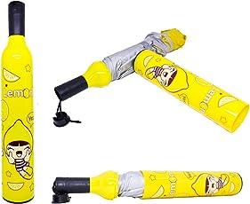 Fervent Fancy Side Pocket Folding Wine Bottle Multicolour Umbrella