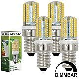 MENGS® 4 Stück Dimmbar E14 LED Lampe 3W AC 220-240V Warmweiß 3000K 64x3014 SMD Mit Silikon Mantel