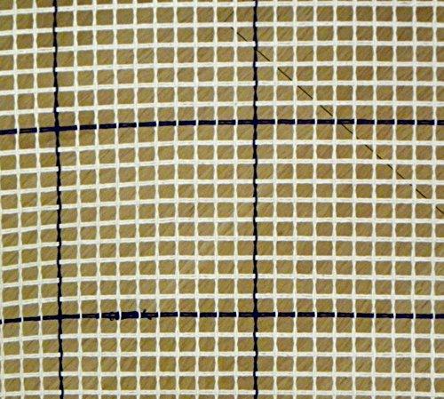 Zweigart - Hochwertige Leinen-Gitternetzstruktur zum Knüpfen von Teppichen, mit Hilfslinien, 100 x 70 cm