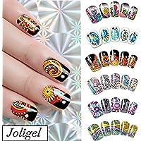 Joligel Pegatinas para uñas al agua decorativas calcomanías autoadherentes etiquetas adhesivas para manicura DIY accesorios de