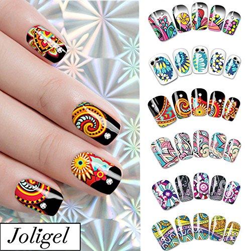 Joligel Pegatinas uñas agua decorativas calcomanías