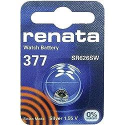 377 (SR626SW) Batterie de Pièces de Monnaie / Oxyde D'argent 1.55V / pour Les Montres, Torches, Clés de Voiture, Calculatrices, Appareils Photo, etc / iCHOOSE