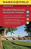 MARCO POLO Freizeitkarte Dresden, Oberlausitz, Sächsische Schweiz 1:110 000: Toeristische kaart 1:110 000 -