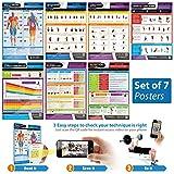 Acondicionado Set (conjunto de 7) A3laminada pared gráficos–con en línea de formación de vídeo apoyo (teléfono inteligente sólo)
