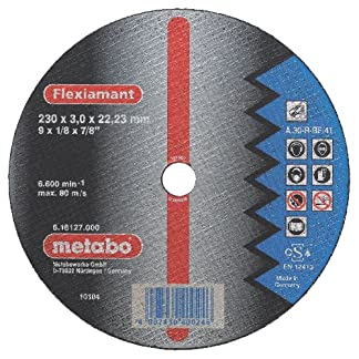 Metabo 616310000 616310000-Disco de tronzar para Amoladora Angular Flexiamant A30-R Metal embutido Ø 125 x 2,5 x 22,22 mm (Envase de 25 Ud)