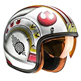 F7XWL - HJC FG-70S X-Wing Fighter Pilot Open Face Motorcycle Helmet L
