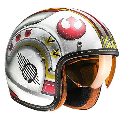 F7XWL - HJC FG-70S X-Wing Fighter Pilot Open Face Motorcycle Helmet L