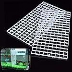 BraveWind 2 Pcs White Grid Divider Tray Egg Crate Aquarium Fish Tank Filter Bottom Isolation Board Pane 8
