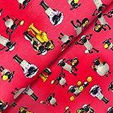 Glünz Lizenz Jersey Shaun das Schaf pink - Stoff -