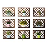 YUAN Antiseptisches Hölzernes Blumenstandplatz-Balkonwand-Hängendes Blumenregal Verziert Hängendes Wand-Massivholzblumentopfregal, Das Wandfensterbankett Hängt