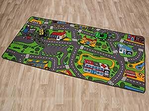 tapis de jeux trafic tapis circuit 0 95m x 2 00m jeux et jouets. Black Bedroom Furniture Sets. Home Design Ideas