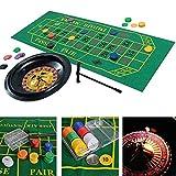 Gravere Set di Ruote per Roulette per Feste Poker Chips Fun Leisure Entertainment Giochi da Tavolo per Adulti Bambini Contribution Approachable