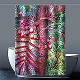 Brauch Quercus Robur 100% Polyester Fabrik Duschvorhang Shower Curtain 120 Zentimeters x 183 Zentimeters