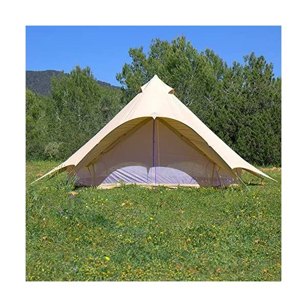 Boutique Camping Tents 5m Sandstone Star Bell Tent With Zipped In Ground Sheet 5
