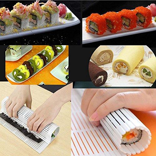 Bonytain plastica tappetino per sushi onigiri rice roller rolling maker per accessori da cucina food diy tools portable