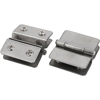uxcell Adjustable Dual Ways Aluminum Glass Clamp Clip Door Hinge 10mm-13mm