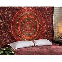 Tapiz Pared, Tapices Mandala Hippie, Colgar en la Pared Boho Bohemio, Tapiz Indio Toalla de Palya Camel Tapestry Red Wall Hanging By Rajrang