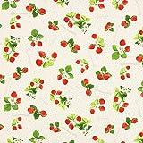 Fabulous Fabrics Canvas Erdbeerstrauch – beige —