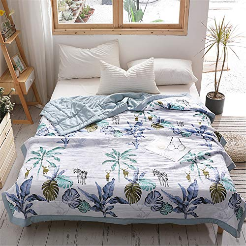 TTXLY Bettwäsche Kleine frische Gewaschene Baumwolle gedruckt Sommer Quilt klimatisierte Student Geschenk Quilt (kann gewaschen Werden) 200 * 230 cm,C,150 * 200cm