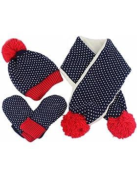 Cozywind 3 pezzi Cappello sciarpa e Guanti Caldo Inverno Bambine e ragazze accessori Coordinati invernali 2-6...