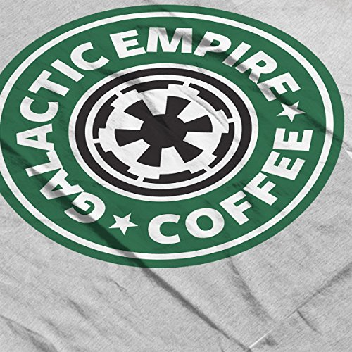 Star Wars Rogue One Galactic Empire Coffee Starbucks Logo Men's Vest Heather Grey