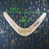 12,6pulgadas alta calidad 32* 18cm hecho a mano madera Frisbee Boomerang UFO Flying platillo volador Disco