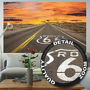 Route 66 fotomurale american highway tappezzeria da for Tappezzeria da parete