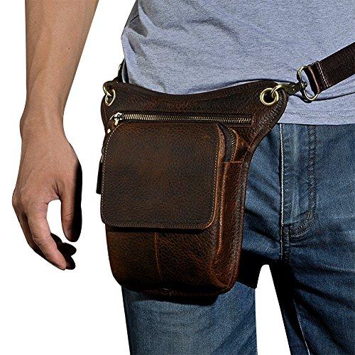 Genda 2Archer Utility Cross Over Tasche Leder Taille Bein Tasche (Braun 1) Braun 2
