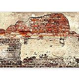 murando - XXXL Fototapete 600x280 cm - Größe Format 6m - Vlies Tapete - Moderne Wanddeko - Design Tapete - Ziegel Ziegelstein f-A-0503-x-f