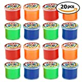 20 Mini Putty Noises Maker - 4 Ideal for Party Favours, Party Bag Fillers, Lucky Dips & Christmas Fillers