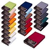 SPANNBETTLAKEN WASSERBETTEN BOXSPRINGBETTEN 180x200 bis 200x220 170gr Öko Tex Zertifikat Avantgarde 100% Baumwolle 19 Farben (09-brombeer)